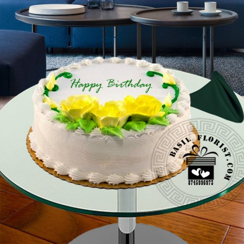 Awesome Vanilla Birthday Cake For Home Delivery Funny Birthday Cards Online Overcheapnameinfo